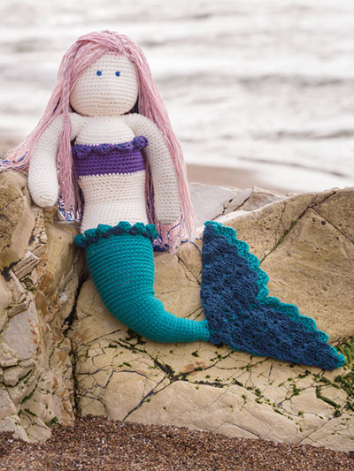 Crochet Doll & Animal Patterns - Mia the Mermaid Crochet Pattern | 533x400