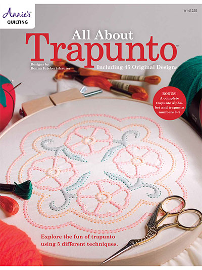 Embroidered Quilt Patterns All About Trapunto Quilt Book