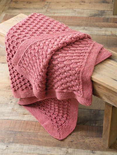 Knit Afghan & Throw Patterns - Reversible Afghan Knit Pattern