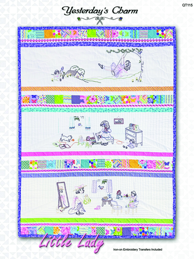 Baby Kids Applique Patterns Little Lady Iron On Embroidery Quilt