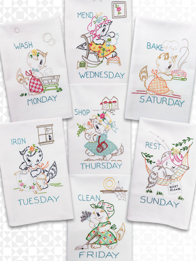 Embroidery Patterns A Kitten A Day Iron On Embroidery Pattern