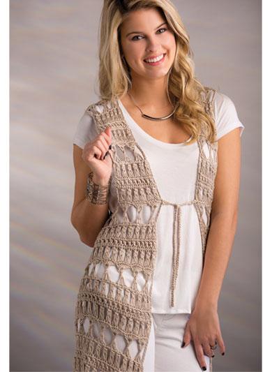 Crochet cardigan jacket vest patterns page 1 bombay vest crochet pattern dt1010fo
