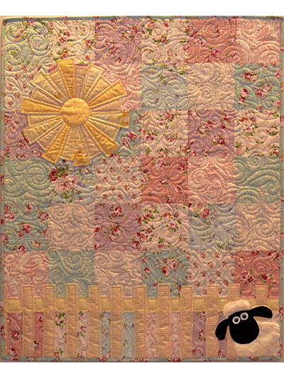 a358b4f42541 Baby   Kids Applique Patterns - The Lamb in the Roses Quilt Pattern