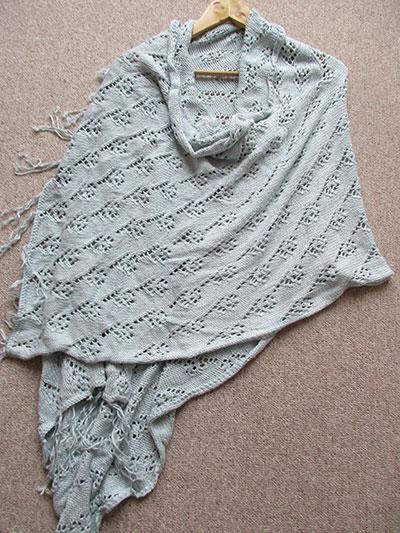 Flower Lace Shawl Knit Pattern
