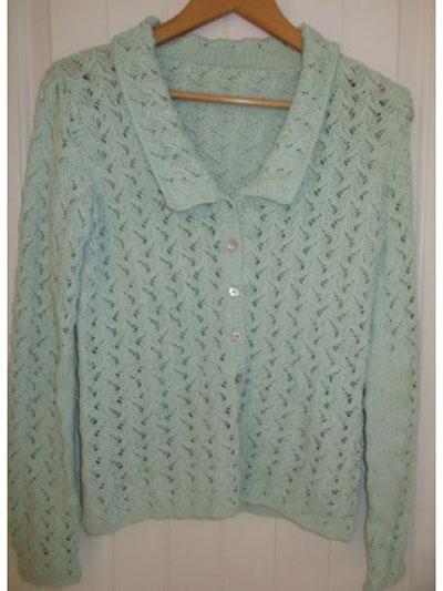 New Knitting Patterns Ivy Lace Cardigan Knit Pattern