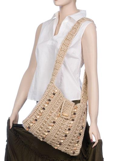 Easy Bead As You Go Shoulder Strap Purses Crochet Pattern