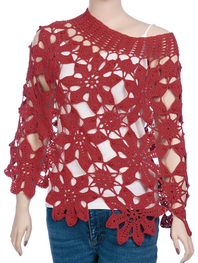 Crochet Shawl Wrap Downloads Easy Bead As You Go Flower Poncho