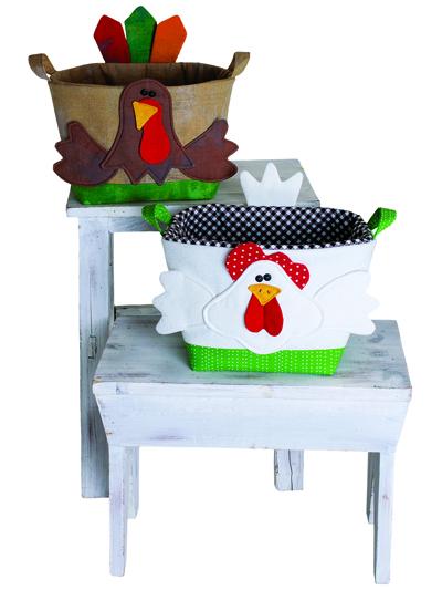 Basket Box Bowl Sewing Patterns Handy Baskets Chicken And