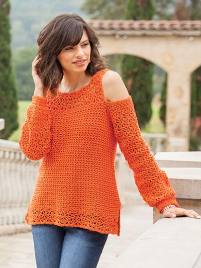 Crochet Summer Swag Tee Crochet Pattern Yc04240
