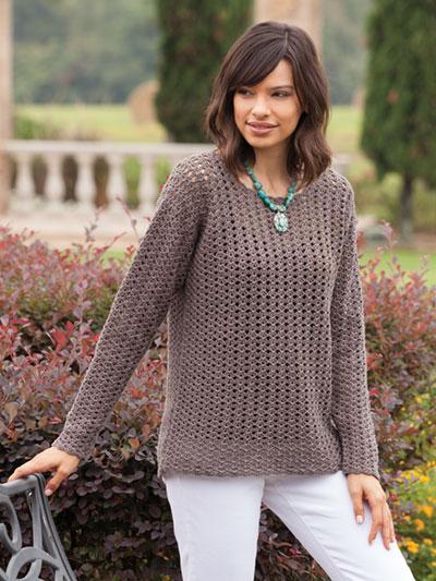 a96d36c9f985 Crochet - Easy Top-Down Macchiato Sweater Crochet Pattern -  YC04238