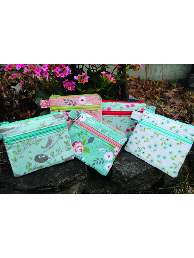 Handbags, Tech Cover & Wallet Sewing Pattern - Double Zip Pouch ...