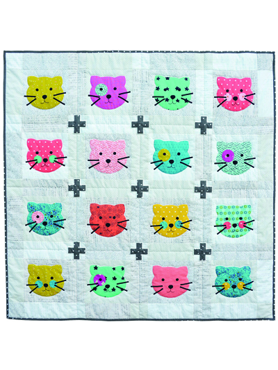 kitty girl quilt pattern