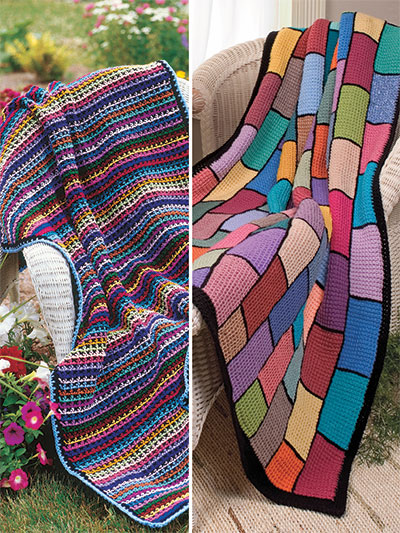 Crochet Patterns Out Of Print Patterns Scrap Happy Afghans
