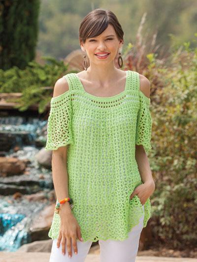 Crochet Patterns Peekaboo Shoulder Top Crochet Pattern