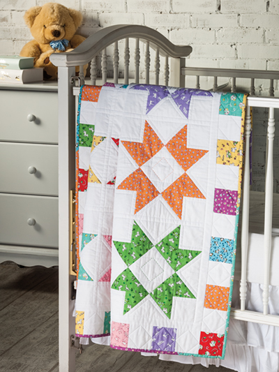 Baby Quilt Patterns.Color Burst Baby Quilt Pattern