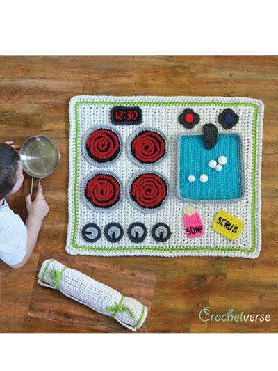 Crochet Baby Kids Downloads Kitchen Play Mat Crochet Pattern