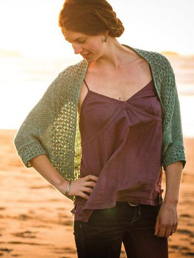 New Knitting Patterns Avana Shrug Knit Pattern
