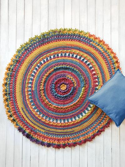 Crochet Downloads For The Home Retro Mandala Crochet Pattern