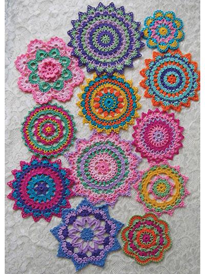 Crochet Downloads For The Home Mini Mandala Doilies Crochet Pattern