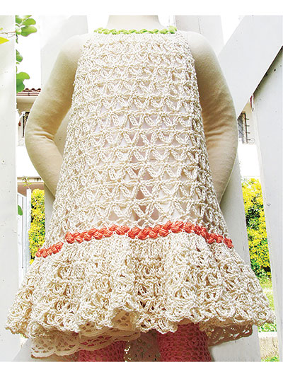 Chain Lace Flower Dress Crochet Pattern