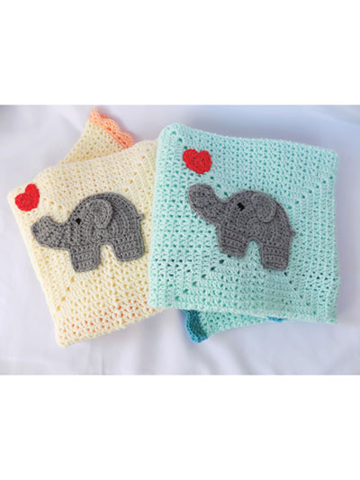 elephant applique Crochet pattern, cute applique pattern for bags ... | 533x400