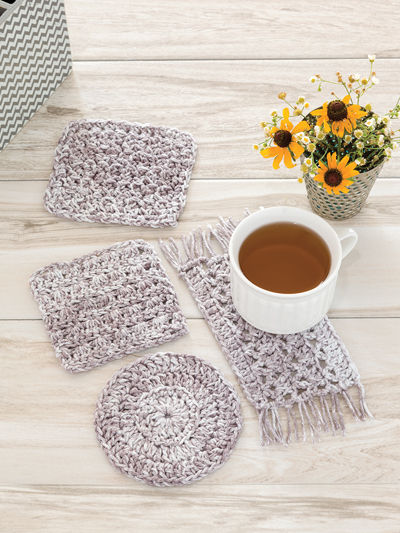 Farm House Coasters Crochet Pattern
