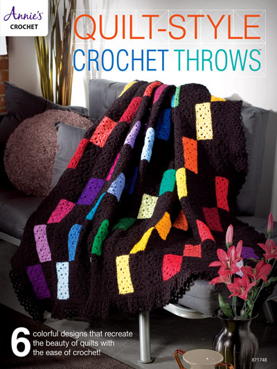 Quilt Style Crochet Throws Crochet Pattern Book