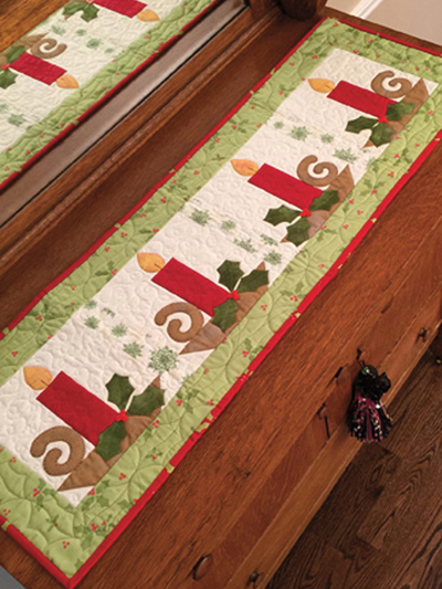 Christmas Table Runner Patterns Free.Christmas Candle Table Runner Pattern