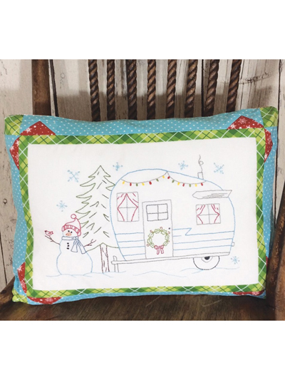 Embroidery Patterns Candy Cane Camping Pillow Embroidery Pattern