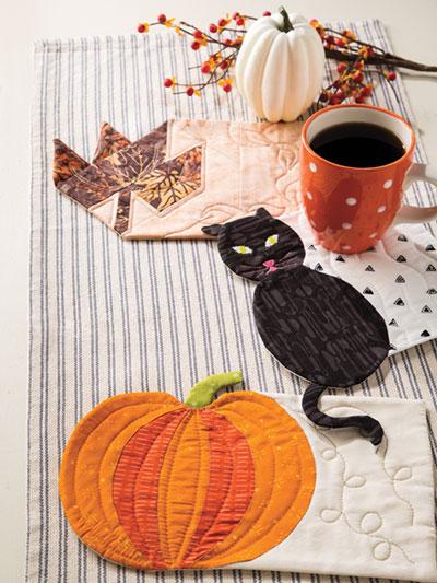 Exclusively Annie S Quilt Designs Autumn Mug Rugs Pattern