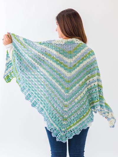 New Crochet Patterns Shells Lace Shawl Crochet Pattern