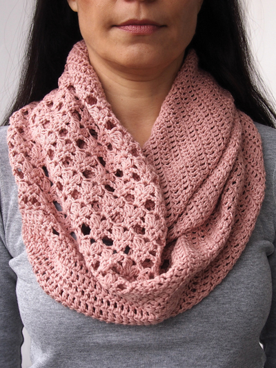 Crochet Scarf Patterns Bias Loop Scarf Crochet Pattern
