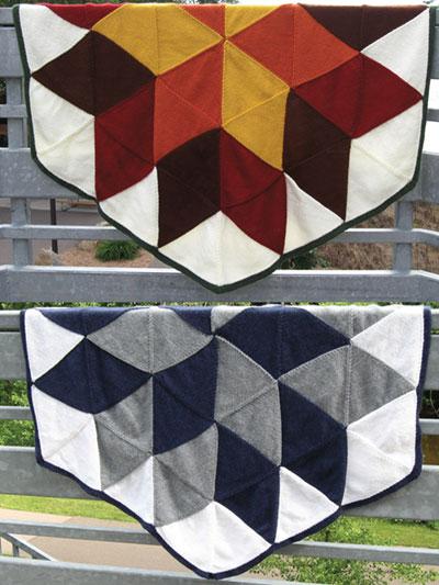 Knitting Patterns Supplies Modular Knit Afghan