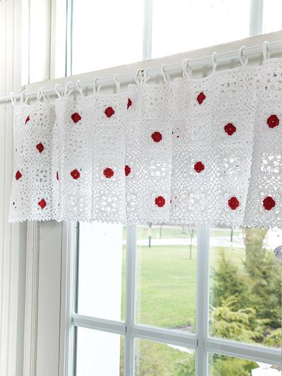 Crochet Cherries On The Top Valance Crochet Pattern Ac04301