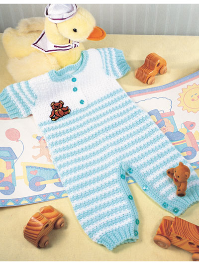 Baby Kids Crochet Patterns Striped Overalls Crochet Pattern