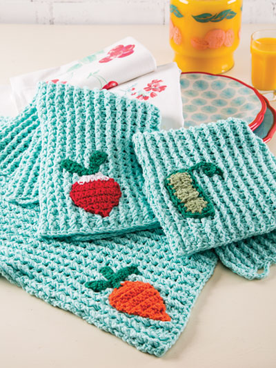 Crochet Kitchen Decor Eat Your Veggies Towels Crochet Pattern