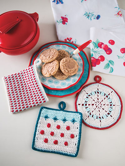 Retro Pot Holder Set Crochet Pattern