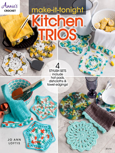 Make-It-Tonight Kitchen Trios Crochet Pattern Book
