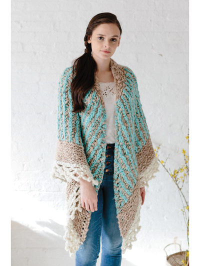 New Knitting Patterns Collage Triangle Shawl Knit Pattern