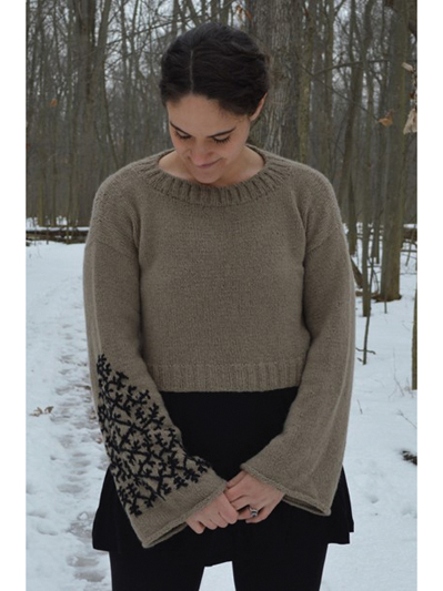 Top And Pullover Knitting Patterns Tattoo Crop Knit Pattern