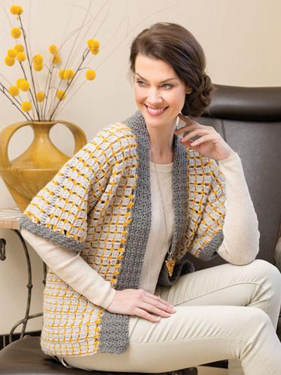 ANNIE'S SIGNATURE DESIGNS Yukina Kimono Jacket Crochet Pattern Mesmerizing Crochet Kimono Pattern