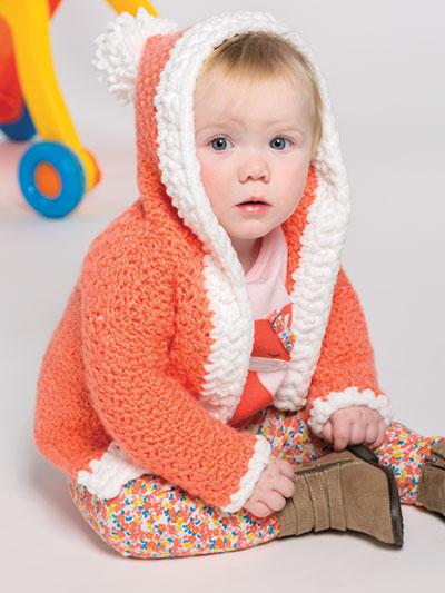 Crochet Frosted Gumdrops Baby Cardigan Crochet Pattern Yc04322