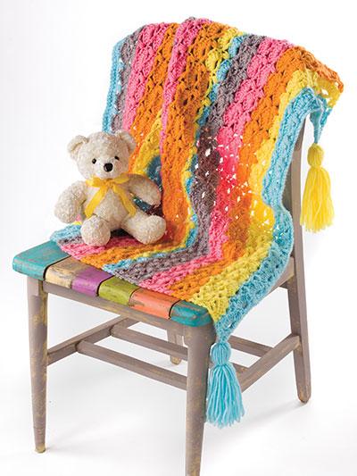 Ribbon Candy Blanket Crochet Pattern