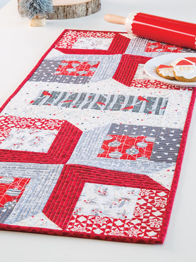Christmas Table Runner Quilted.Christmas Showcase Table Runner Quilt Pattern