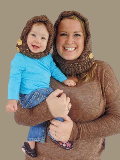 Crochet Baby Kids Downloads Bulky Hooded Scarf Crochet Pattern