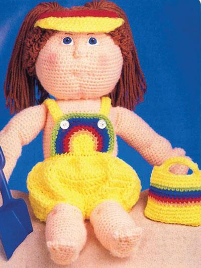 Debbie Ann's Rainbow Sun Suit Crochet Pattern