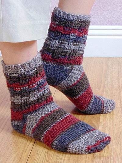 Crochet Socks Patterns Basketweave Socks Crochet Pattern
