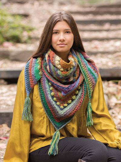Hidden Hills Shawl Crochet Pattern
