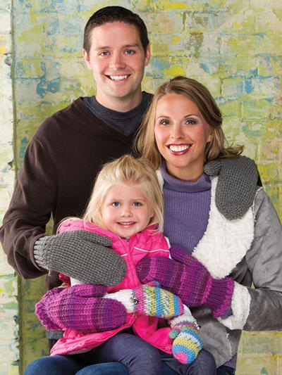 Family Mittens Crochet Pattern