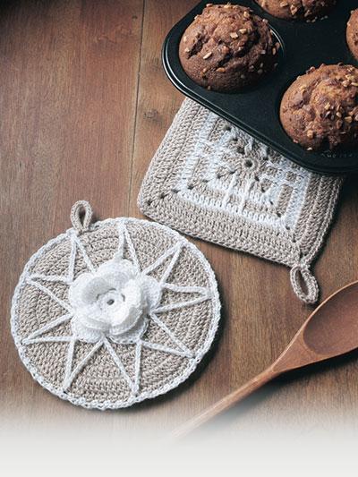 Linen Pot Holders Crochet Pattern